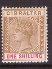 GIBRALTAR SG45  Victoria 1898 1/-  lightly hinged.