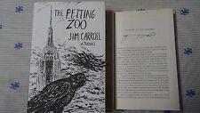 Signed Patti Smith The Petting Zoo Jim Carroll 1/1 HC DJ A Novel Just Kids Flyer
