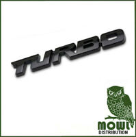 Black 3D Car Styling Sticker Metal TURBO Badge Body Tailgate Badge Ford Vauxhall