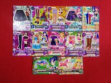 MIXED LOT 12 CARD AIKATSU JAPANESE CARDS USED CONDITION #1551