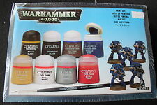 Games Workshop Warhammer 40k Citadel Paints Set Badab Black Blood Red BNIB New
