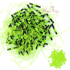 100pcs Bobber Stops for Fishing Float Plastic Beads Nylon Line Freshwater Tackle