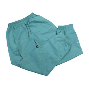 Vintage 90s Womens Nike Nylon Windbreaker Track Pants Teal Size Large 12-14