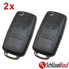 2 Stück VW Seat Skoda Klappschlüssel 2 Tasten Gehäuse Autoschlüssel Ersatz NEU