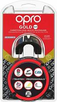 OPRO Gen4 Mouth Guard Gold Adult Self Fit Black Gold Gum Shield Boxing MMA Rugby