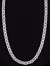 Men's Silver Plated Concave Marina Chain