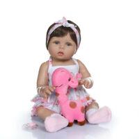 Handmade Full Body Silicone Lifelike Reborn Babies Doll Newborn Girls XMAS Gifts