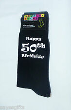 Happy 50th Birthday Printed Design Mens Black Socks Great 50th Birthday Gift