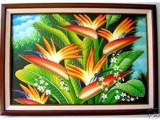 Birds of Pradise Art Philippines Oil Painting