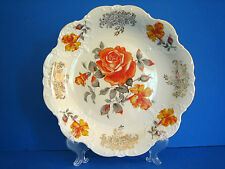 Schaller Winterling E.Germany Bavaria Porcelain 1918 + Plate Platter Orange Rose