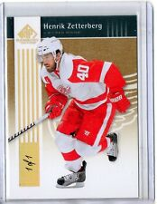 Henrik Zetterberg 1/1 True One of One SP Rare 2011-12 UD SP Game Used Hockey