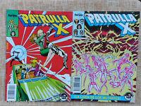 Comics, La Patrulla X, nº 74 y 76, Forum, Marvel, Chris Claremont, 1988, Juvenil