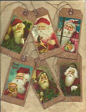 12vintage christmas tagsprimitivegrungyspecialhang tagsgift - Primitive Christmas