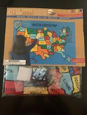 United States Felt Map