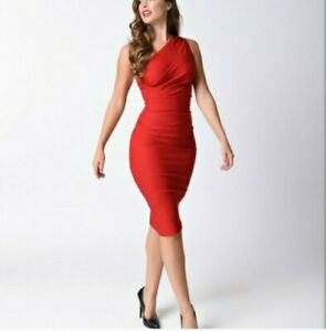 Stop Staring Red Ava Gathered Dress