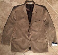 NEW Mens Chaps Size 48 Light Brown Corduroy Sport Coat Blazer Jacket MSRP $175