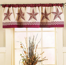Rustic Primitive Window Valance For Bedroom Kitchen Bathroom Decor Star Design