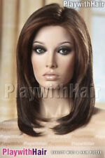 SUPERB Lace Front Designer Wig Mono Top Dark Brown Swirl