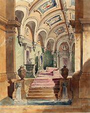 Unbekannter Künstler, Klassisches Interieur, um 1820/30
