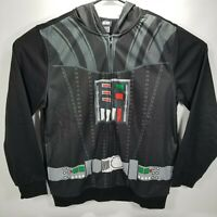 Men's Star Wars Darth Vader Black Hood Eyeholes Sweatshirt Jacket Hoodie Size S