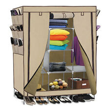 "69"" Wardrobe Portable Closet Storage Organizer Clothes Shoe Rack w/Shelves"