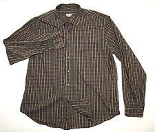 Steven Alan Men's Button Front Shirt Green Brown Plaid Size 2XL Made in USA