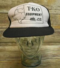 Vintage Young An Snapback Mesh Trucker Hat TKO Equipment Texas Kansas Okalahoma