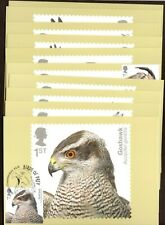 2019 GB Royal Mail Birds of Prey set PHQ cards X10 Different P/M Unaddressed