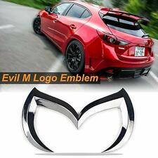 3D Metal Chrome Bat Evil M Rear Trunk Tailgate Emblem Badge for Mazda 3 6 MS 3 6