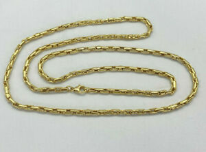 """9ct Gold Hallmarked 30"""" Fancy Link Chain Necklace.  Goldmine Jewellers."""