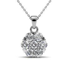 18k white gold genuine SWAROVSKI crystal Brilliance Pendant necklace circle