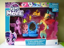 My Little Pony Movie PRINCESS SKYSTAR & TWILIGHT SPARKLE brushable Sea Pony NEW!