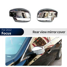 Chrome Silver Rearview Side Mirror Cover Trim For Ford Focus 2012-2018