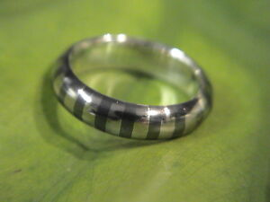 Vintage ZEBRA brand Sterling silver and stainless steel band mint cond.