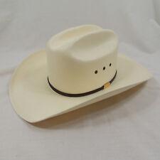 JB Stetson 10X Straw Rancher Shantung Panama Sz 56/7 Cowboy Hat