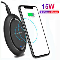 15W Fast QI Wireless Charger Charging Pad For iPhone 11 Pro Max Xs 8 Galaxy S10+