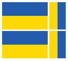 4 x Ucraina Ucraina Bandiera Vinile Auto Furgone iPad Laptop Adesivo