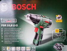 Bosch Akku Bohrschrauber 10,8 V PSR 10,8 LI-2 inkl. Akku Ladegerät Koffer NEU