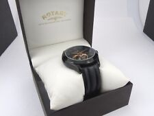 Gents Rotary Jura Automatic Swiss Watch-Black Strap GS90513/10