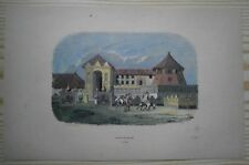 1843 Breton print ROYAL PALACE OF KANDY, CEYLON SRI LANKA (#16)