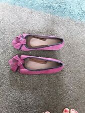 LADIES RADLEY PEEP PINK NAVY SUEDE SHOES SIZE 6