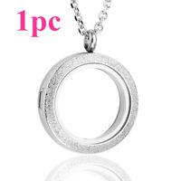 316 Steel Vivid Living Memory Floating Charm Glass Round Locket Pendant Necklace