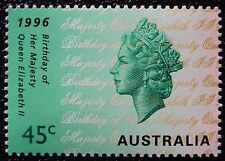 1996 QUEEN'S BIRTHDAY QUEEN ELIZABETH II AUSTRALIAN DECIMAL ISSUE **MUH**!!!
