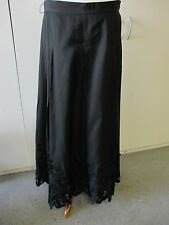 Talbots Long Black 100% Silk Skirt with Embroidery, Beads and Cut Outs 16
