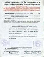 Eddie Collins Jsa Coa Autograph 1944 Player Contract Hand Signed Authentic