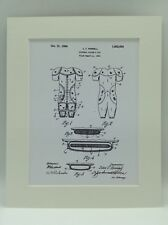 Vintage Patent Print Drawing American Football Pads Display 1926 Nfl 10 X 8