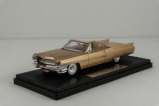 NEW! Goldvarg 1/43 Resin 1964 Cadillac deVille Convertible Firemist Saddle