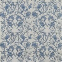Linley Larkspur Blue/White Cotton 140cm wide Curtain/Craft Fabric