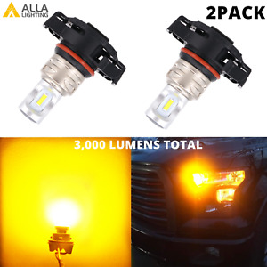 LED PSY24W PY24W Golden Yellow Front Blinker Bulbs DRL for 19-21 Jeep Renegade