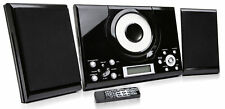 CD Player GTMC-101 Black Micro Stereo Hi Fi System Aux In Clock Alarm FM Radio
